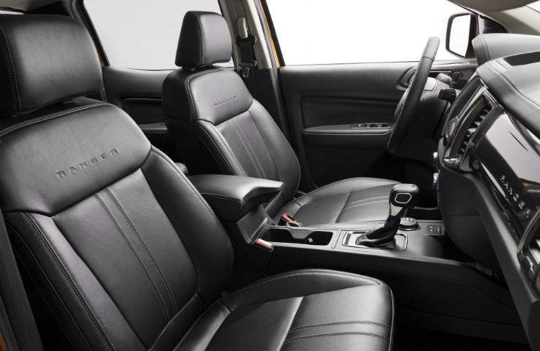 A photo of the front seats with leather upholstery in the 2019 Ford Ranger