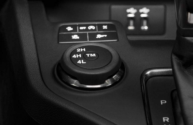 A view of the traction management system that comes with some trims of the 2019 Ford Ranger