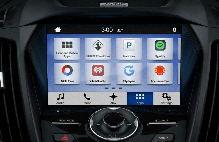 Android and Apple smartphone apps can be integrated into the Sync 3 infotainment system