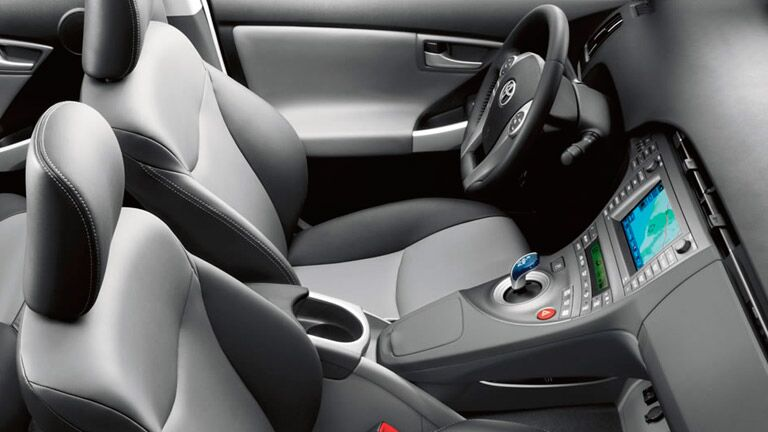 The interior of the 2015 Toyota Prius Berlin VT is extremely cozy and ergonomic.