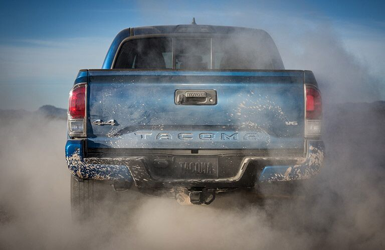 Blue 2016 Toyota Tacoma Rear Tailgate Logo