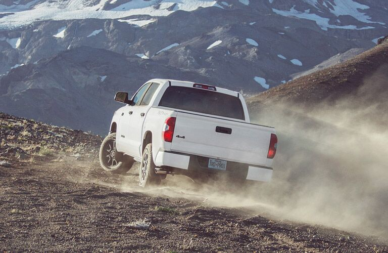 2016 Tooyta Tundra TRD Pro Rear Exterior on Mountain Trail