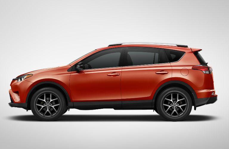 Orange 2016 Toyota RAV4 SE Exterior Profile