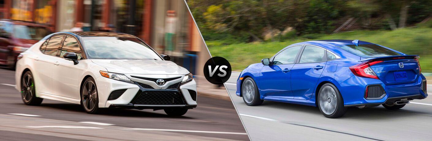 2018 Toyota Camry vs 2018 Honda Civic