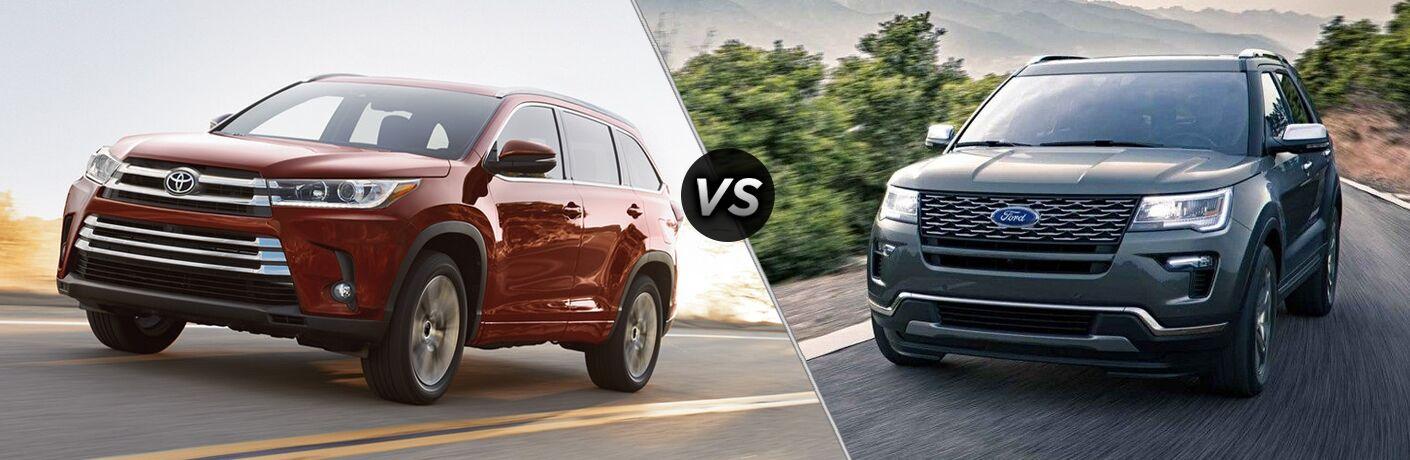 2018 Toyota Highlander vs 2018 Ford Explorer