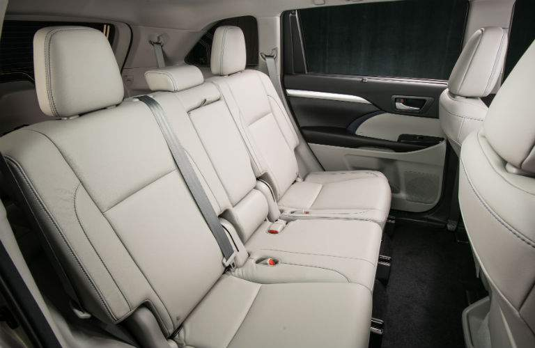 The third row of seats in the 2018 Highlander has some of the most generous legroom in the class