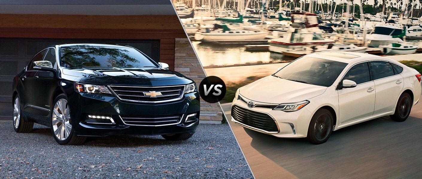 2016 Chevy Impala vs 2016 Toyota Avalon