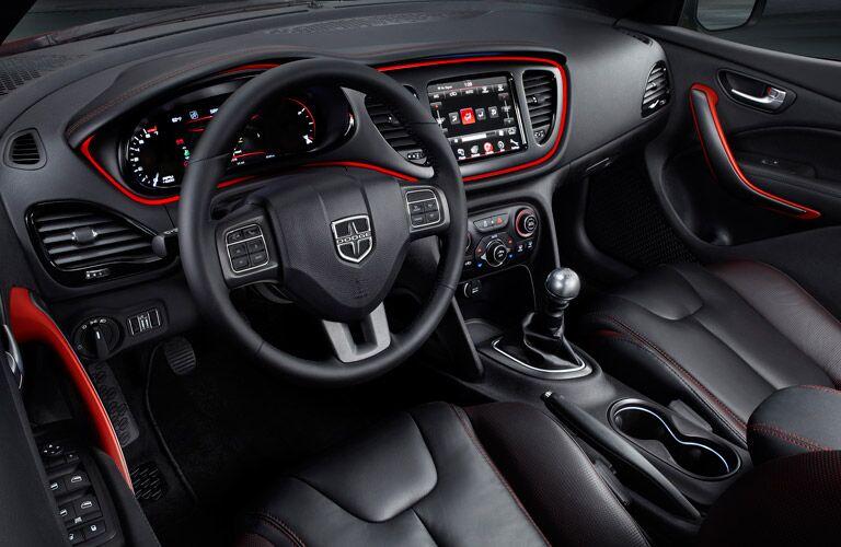 2016 Dodge Dart black leather seats Parks Motors Wichita, KS