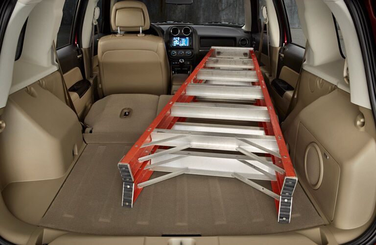 rear hatch cargo space in the 2016 jeep patriot