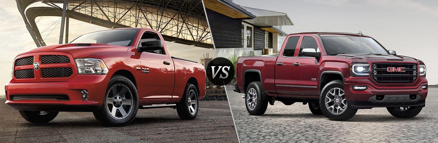 2016 Ram 1500 vs 2016 GMC Sierra 1500