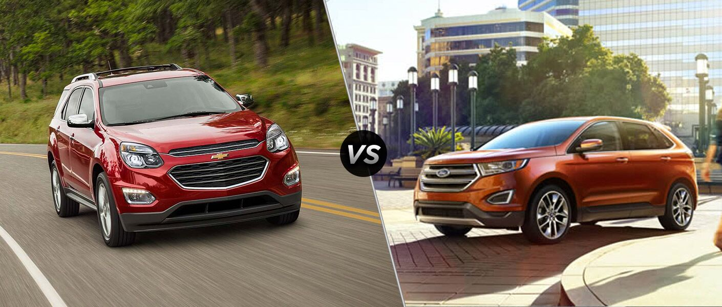 2016 Chevy Equinox compared to Ford Edge