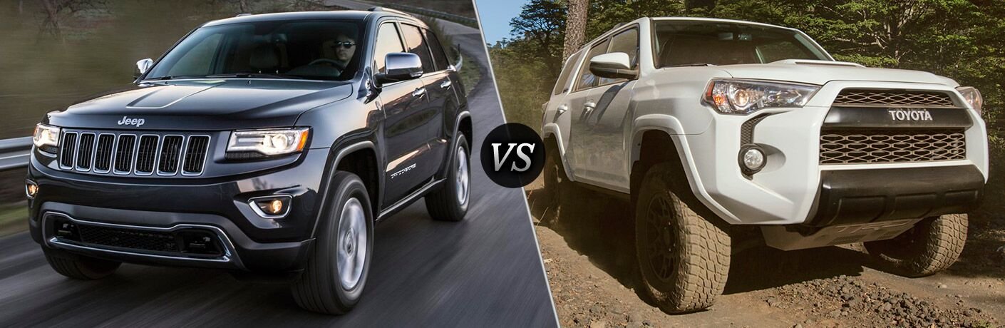 Jeep Grand Cherokee Vs Toyota 4runner >> 2016 Jeep Grand Cherokee Vs 2016 Toyota 4runner