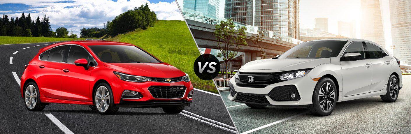 2017 Chevy Cruze Hatchback vs 2017 Honda Civic Hatchback