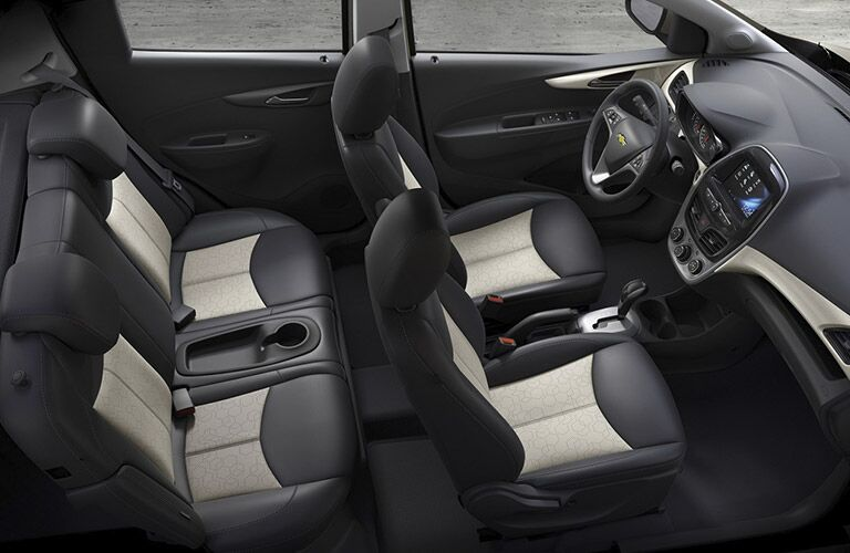 2017 Chevy Spark with two tone seat design