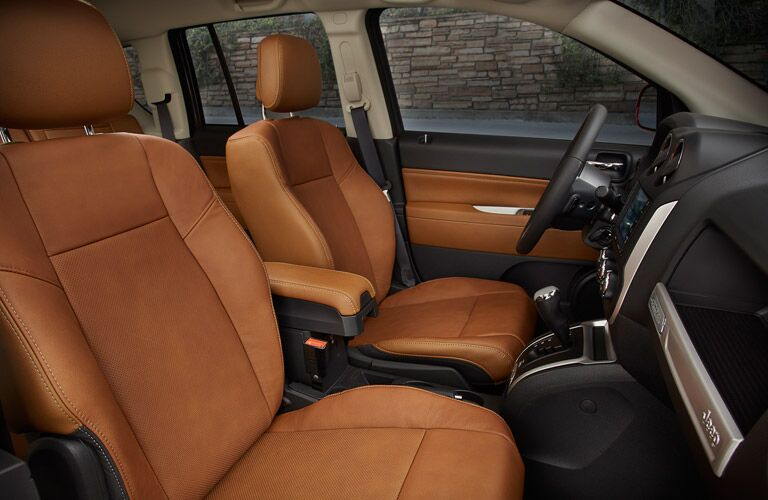 2017 Jeep Compass with brown leather seats