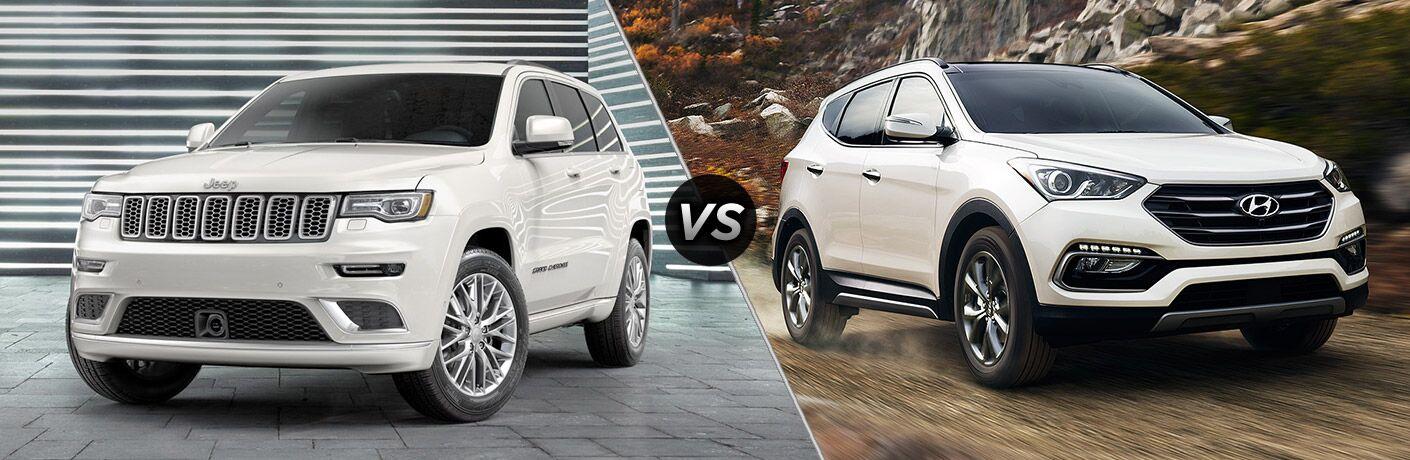 2017 Jeep Grand Cherokee vs 2017 Hyundai Santa Fe Sport