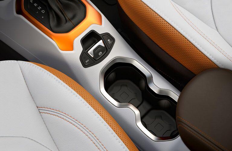 2017 Jeep Renegade interior with orange trim