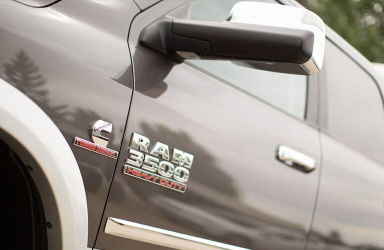 2017 ram 3500 badging on door