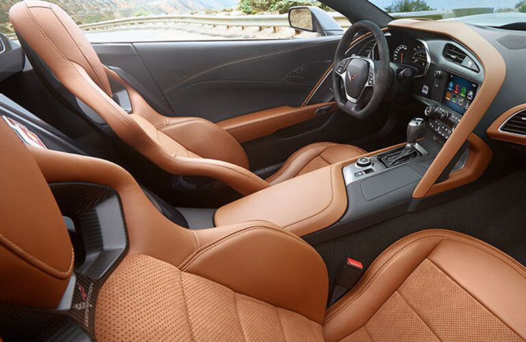 brown leather seats in 2017 corvette