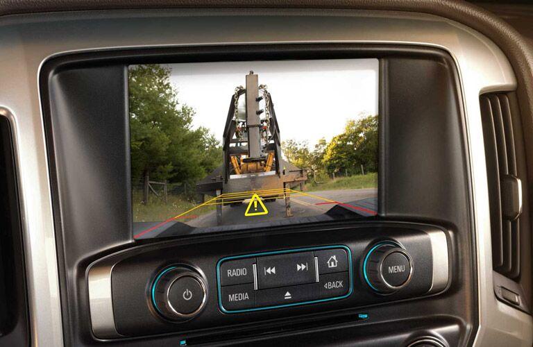 2017 Chevy Silverado 2500HD towing a trailer in camera