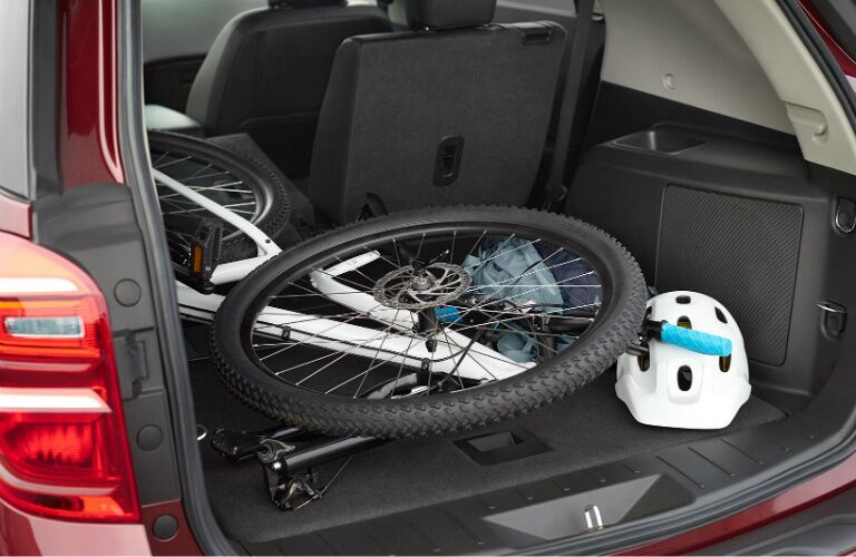 2017 chevy equinox cargo space with bicycle
