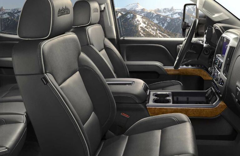 2017 Chevy Silverado 3500HD with leather seats