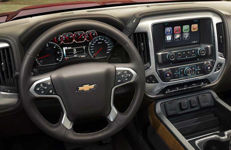 2017 Chevy Silverado 3500HD steering wheel design