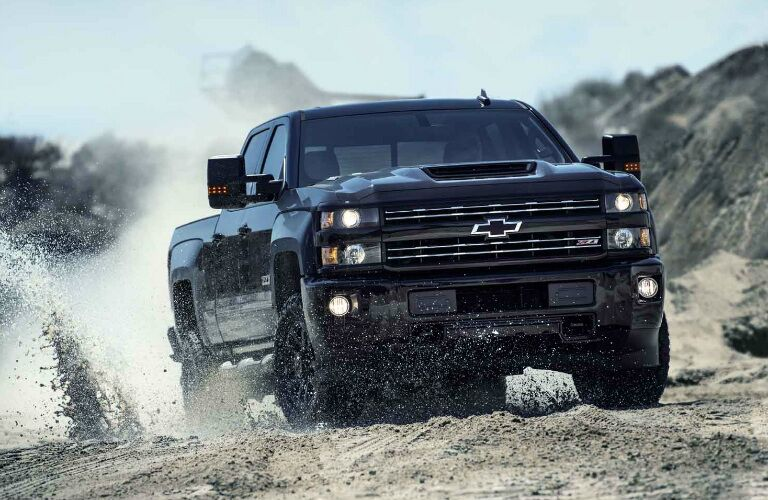 2017 Chevy Silverado 3500HD with blacked out features