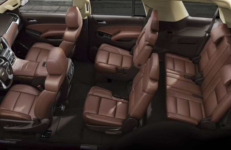 brown leather seats in the 2017 tahoe