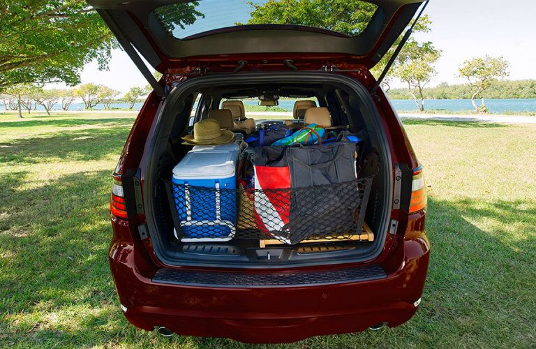 rear cargo space in the 2017 dodge durango