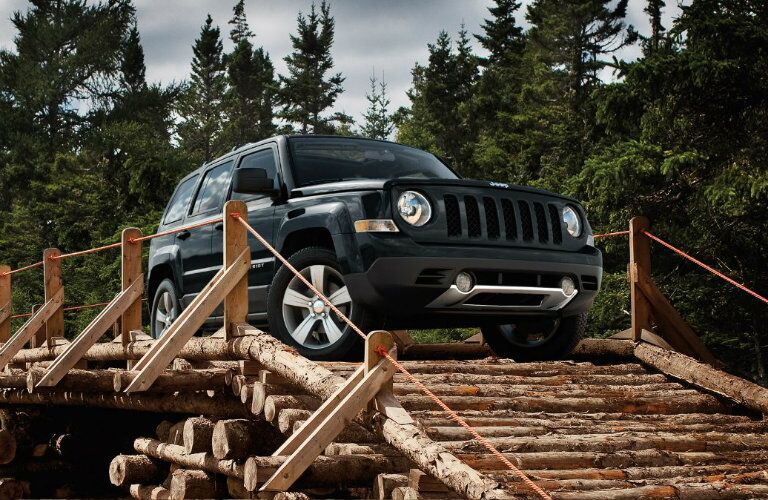 2017 jeep patriot crossing wooden bridge