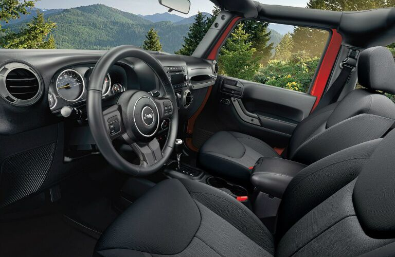 2017 Jeep Wrangler interior passenger space