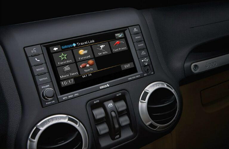 2017 Jeep Wrangler with touchscreen infotainment display