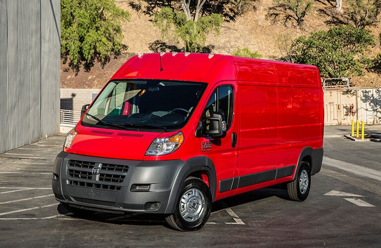 2017 Ram ProMaster in red