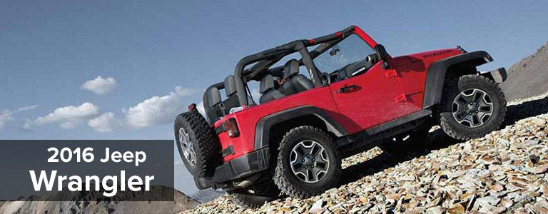 2016 jeep wrangler driving up hill