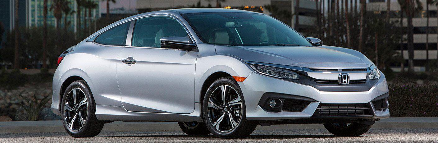 2017 honda civic coupe exterior silver