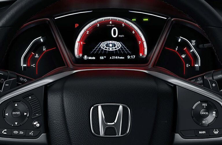 2017 Honda Civic Hatchback Steering Wheel and Gauge Cluster