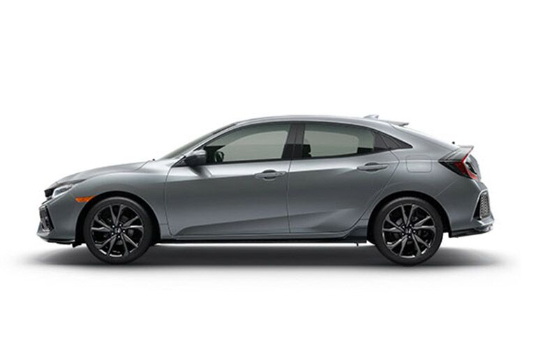 2017 Honda Civic Hatchback Silver Color Option