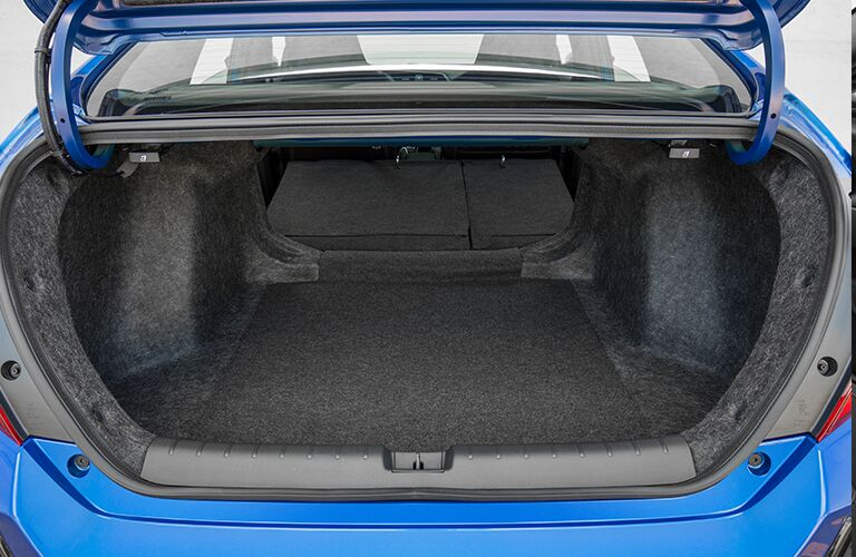 open and empty trunk of a 2018 Honda Civic Si
