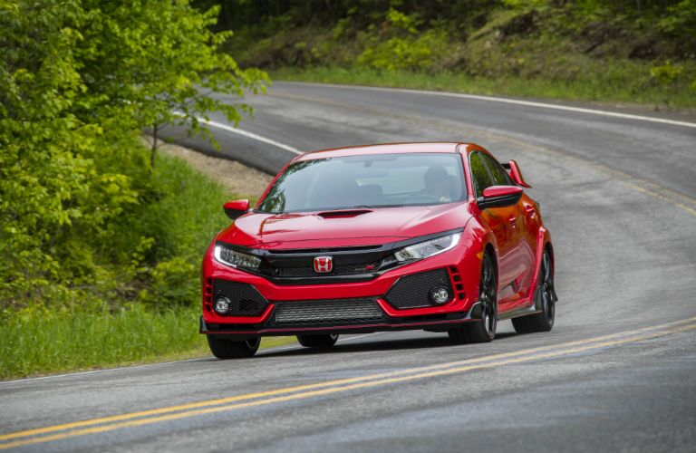 front view of a red 2018 Honda Civic Type R