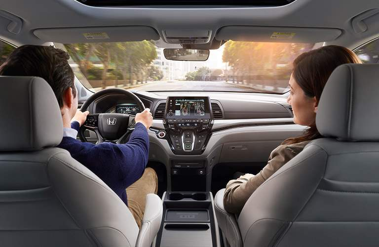 Driver's cockpit of the 2018 Honda Odyssey