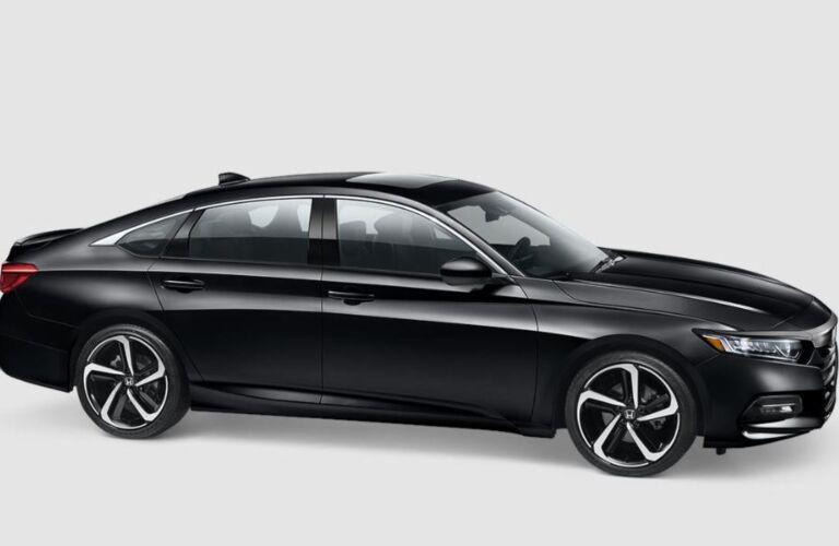 Side view of a black 2018 Honda Accord sedan