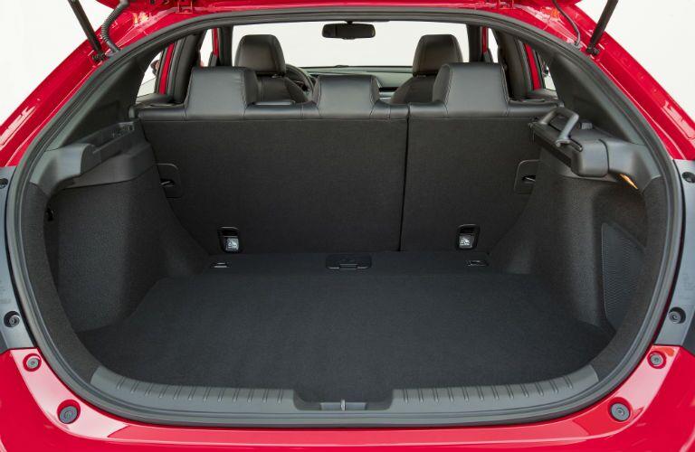 rear cargo area in a 2019 Honda Civic Hatchback