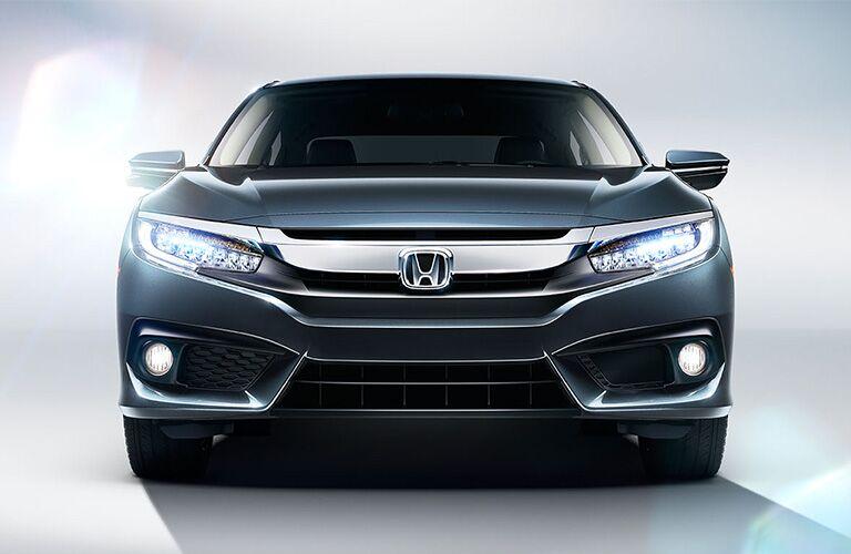 front view of a blue 2019 Honda Civic Sedan