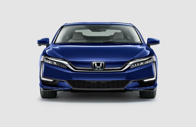 front view of a blue 2019 Honda Clarity Electric