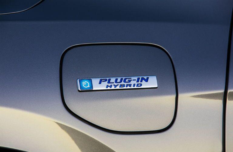 fuel door of a 2019 Honda Clarity Plug-In Hybrid
