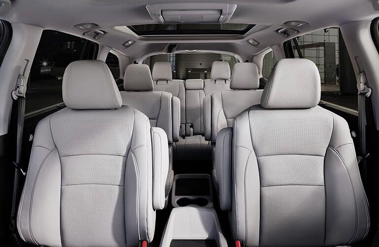 full interior of a 2019 Honda Pilot
