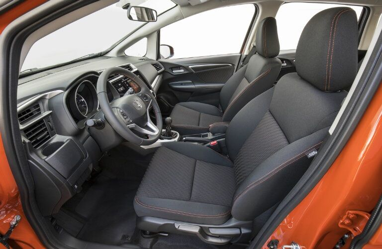 Interior front seating of the 2019 Honda Fit