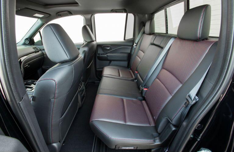 Side view of the 2019 Honda Ridgeline's rear seats