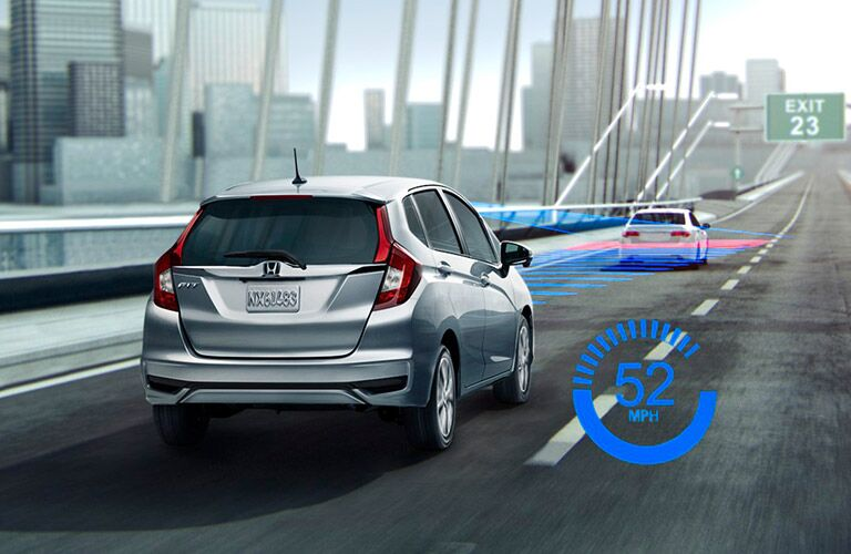 2018 Honda Fit exterior back fascia and passenger side with sensing feature